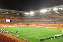 Inside Suncorp Stadium at night