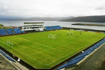Corner view of Svangaskard Stadium
