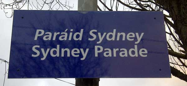 Sydney Parade: The name of the closest DART Stop.