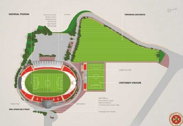 Stadium plan of Ta Qali and Malta FA
