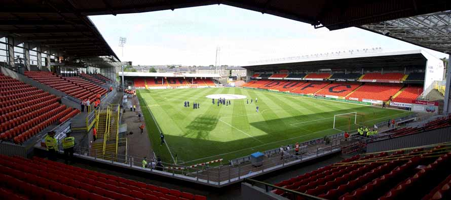 Corner view of Tannadice Park pitch