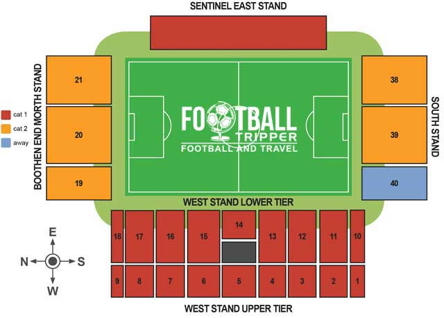 Britannia Stadium Seating Plan
