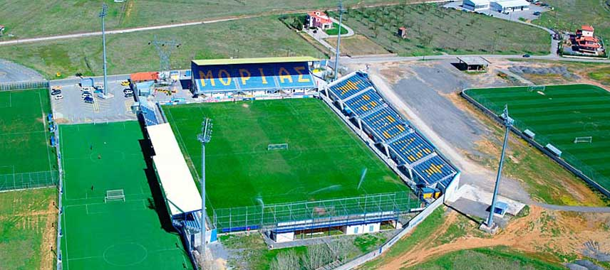 Aerial view of Asteras Tripoli's stadium