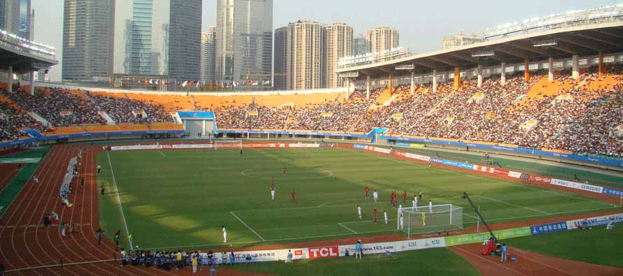 Inside Tianhe Stadium on matchday