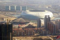 Aerial View of Tianjin Olympic Center Stadium