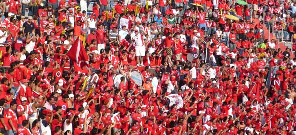 Veracruz supporters inside the stadium