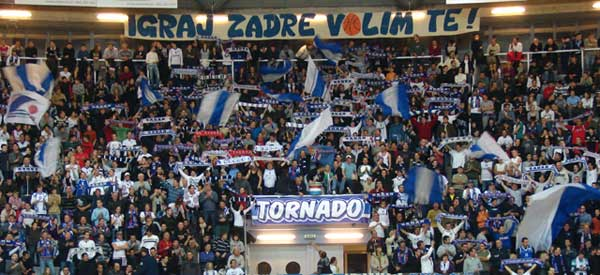 Tornado NK Zadar supporters inside the stadium