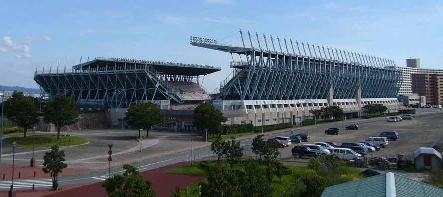 Exterior of the Tosu Stadium