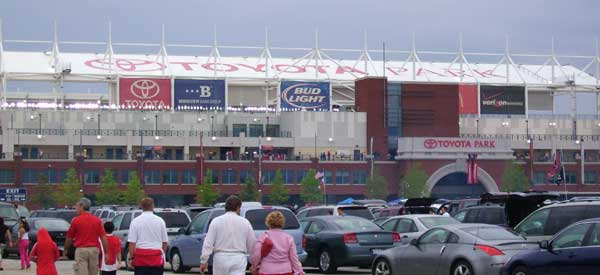 Toyota Park as seen from the car park.