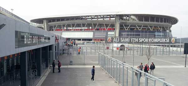 The exterior of Turk Telekom Arena