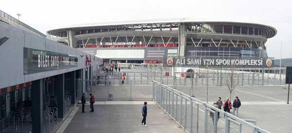 The exterior of Turk Telekom Arena