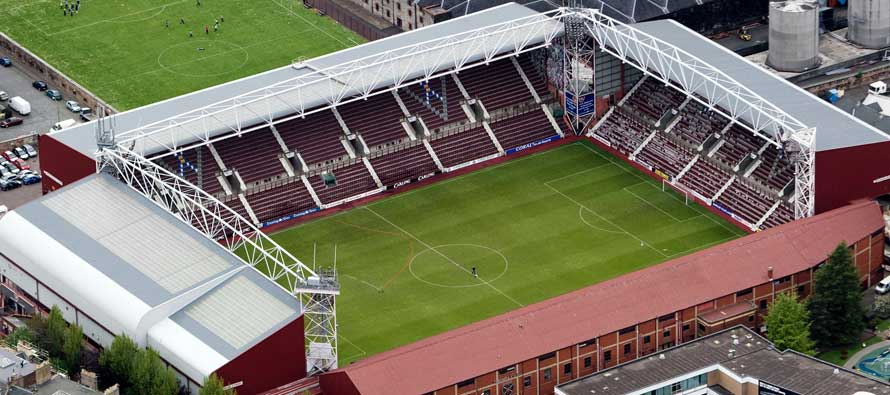 Aerial view of Tynecastle