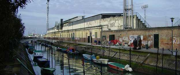 Exterior of Venice's football ground