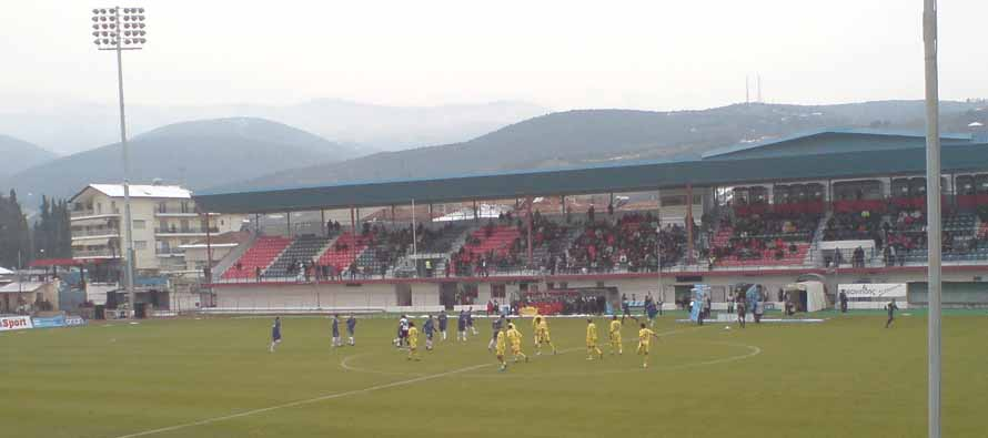 Inside Veria Asteras stadium