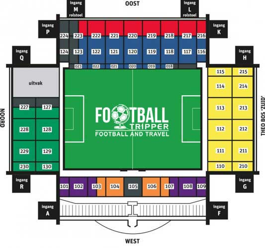 Seating plan of Vitesse's Stadium