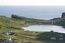 View of A Eidinum Stadium and the coastal landscape