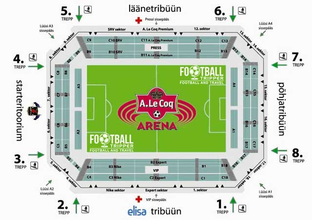 A Le Coq Arena seating plan