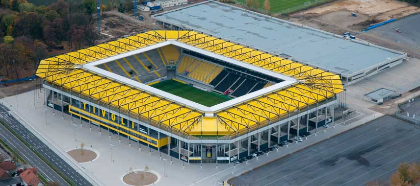 Aerial view of Aachen Tivoli Stadium