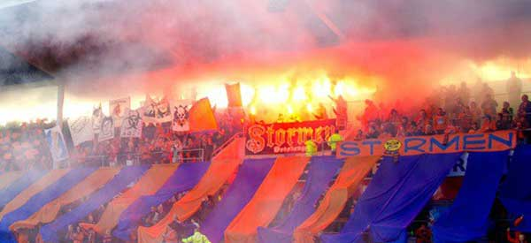 Aalesunds fk supporters inside the stadium
