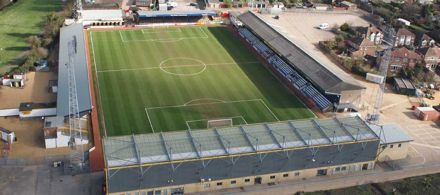Abbey stadium from above.