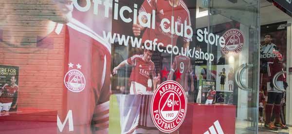 Exterior of Aberdeen club shop