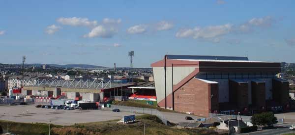 Aberdeen Stadium Exterior.