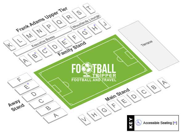 Adams Park Seating Plan