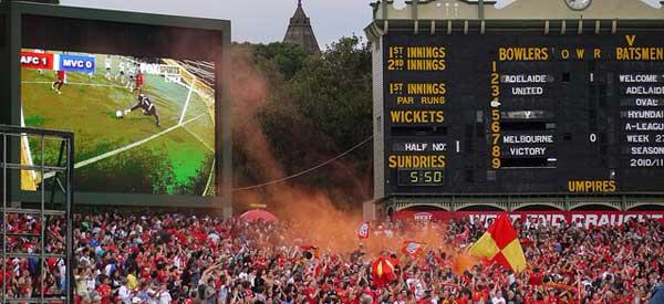 Adelaide United Supporters inside the stadium