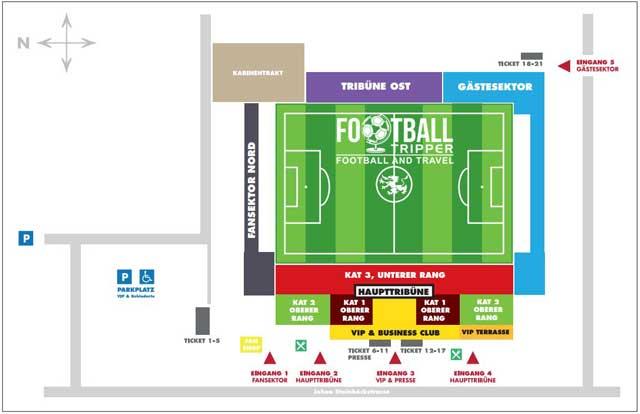 Bundesstadion Südstadt seating plan