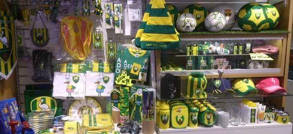 Inside Ado den Haag club shop