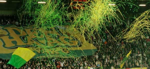 Ado den haag supporters inside the stadium