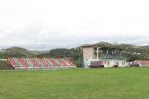 Main stand at Adush Muca Stadium
