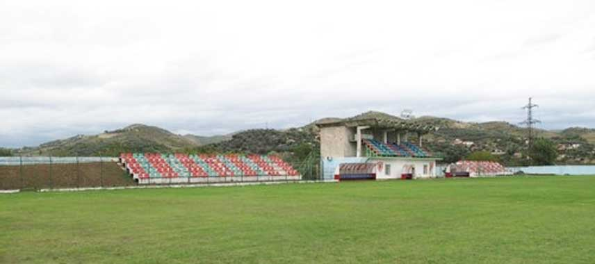 Main stand at Adush Muca Stadium