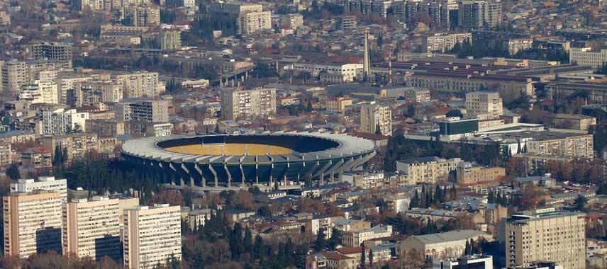 Aerial view of Boris Paichadze Dinamo Arena