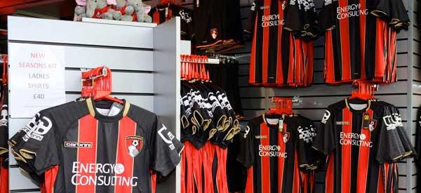 Interior of Bournemouth's club shop