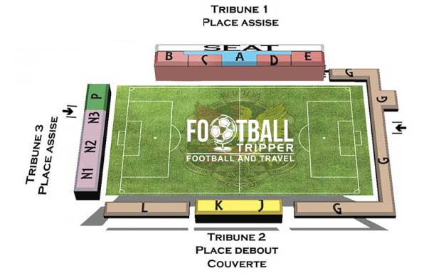 Stade leburton seating plan