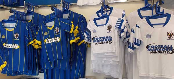 New home kit Inside AFC Wimbledon club shop