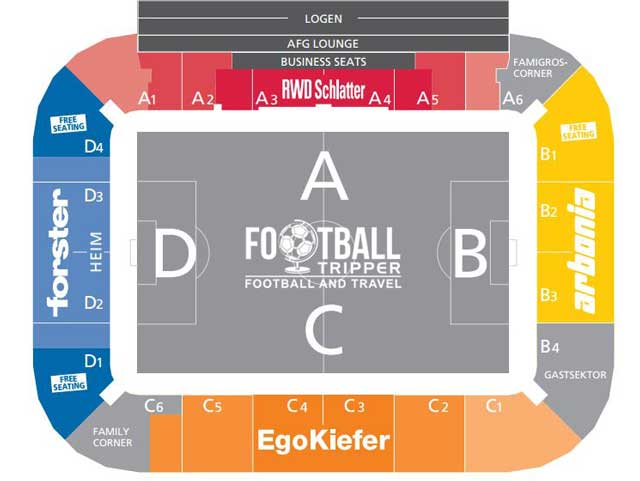 Seating chart for AFG Arena