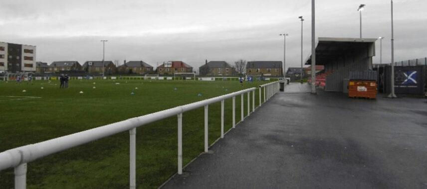 Pitch view of Ainslie Park stadium