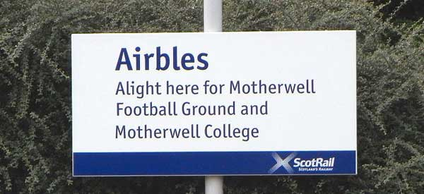 Airbles is technically the closest train station to the ground.