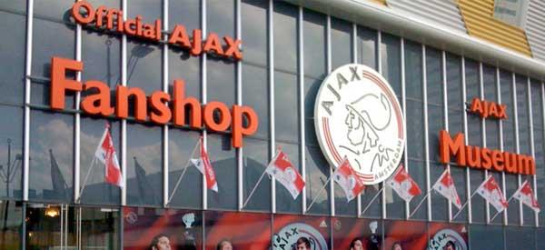 Exterior of AJAX fanshop
