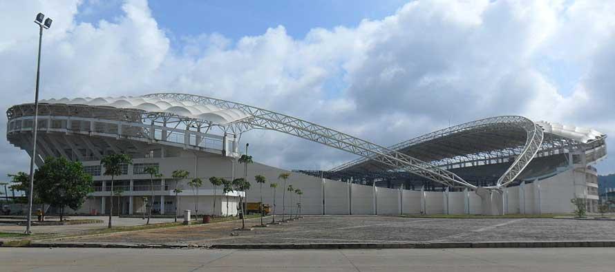 Curvy exterior of Aji Imbut Stadium