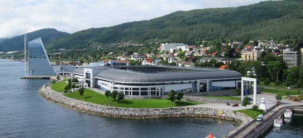Aker Stadion and the coast