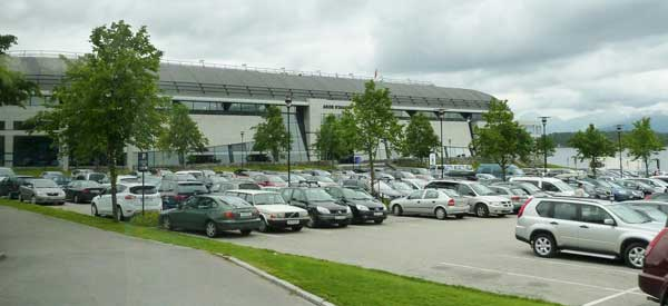 Parking at Aker Stadion.