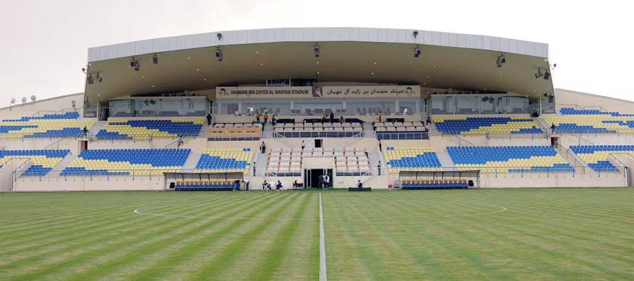 Main stand of al Dhafra Stadium
