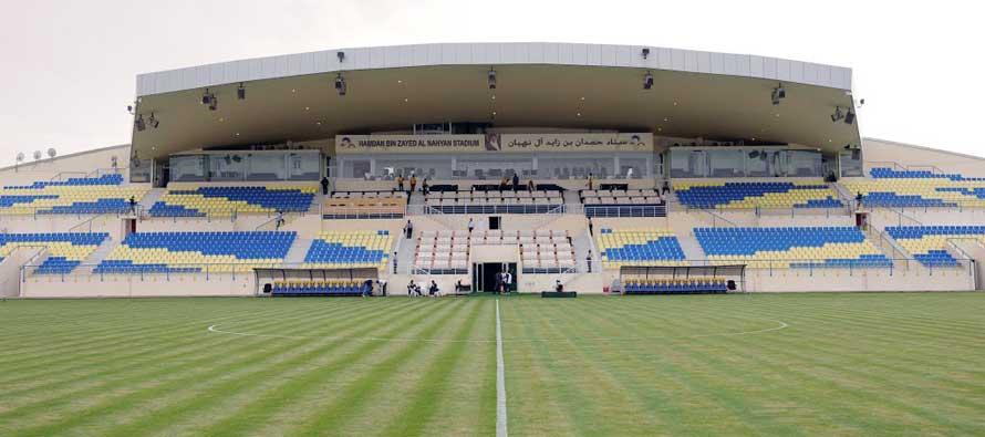 Main stand of al Dhafra Stadium