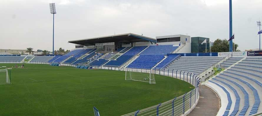 Main stand of Al Maktoum Stadium