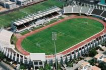 Aerial view of Al Nahyan Stadium