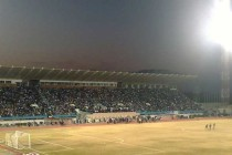 Al-Sadaqua Walsalam Stadium at night