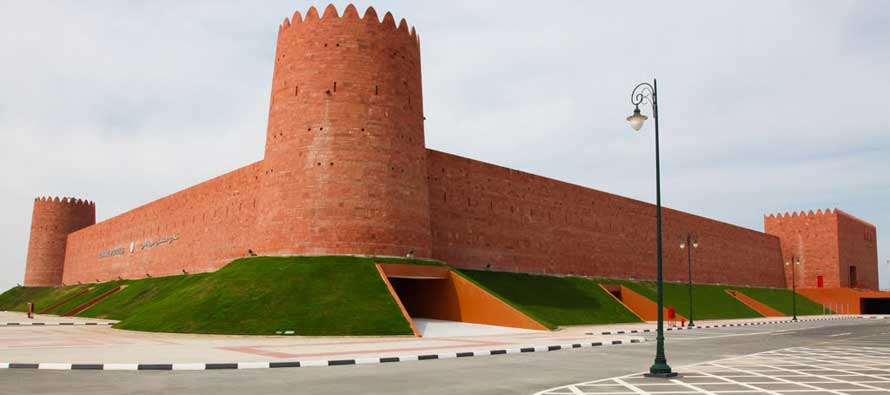 Castle exterior of Al Shamal SC Stadium